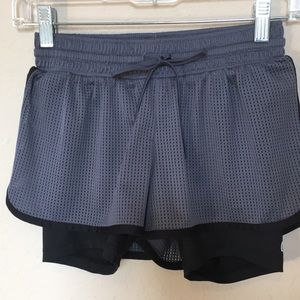 Champion running shorts in gray & blk Sz XS